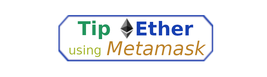 Metamask tip button